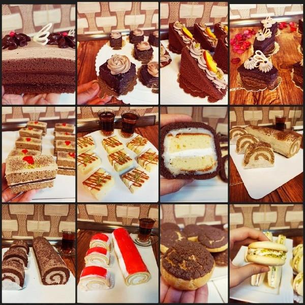 پکیج آموزشی انواع شیرینی های تر وانواع رولت