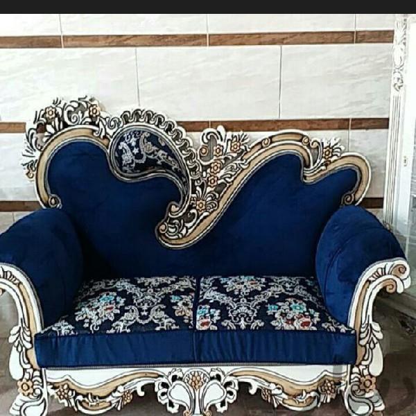 مبلمان راحتی هفت نفره استیل مدل سلطنتی