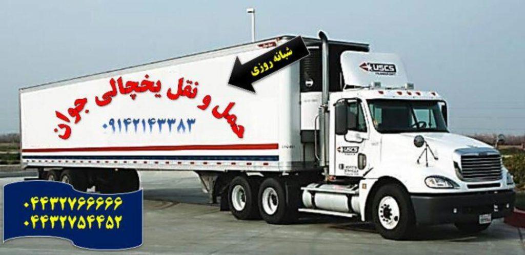 خدمات حمل و نقل یخچالی بم