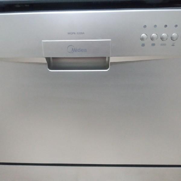 ماشین ظرفشویی مدیا ۶نفره رنگ سیلور